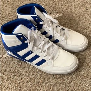 Adidas Mens High Tops size 13 evh791004 white/Blue